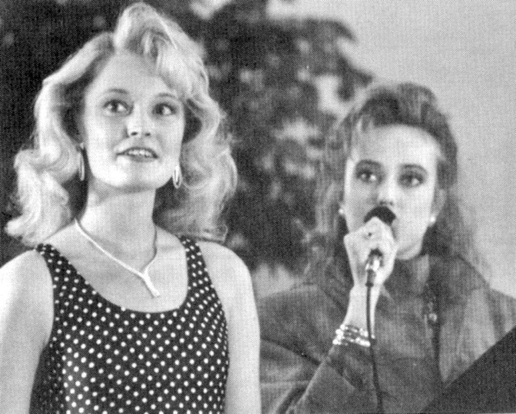 Miss Suomi 1991-esikarsinnat pidettiin Hansatorilla. Voittaja oli loppukilpailuunkin selviytynyt Sari Välimäki, jota haastattelee Tiina Vierto.